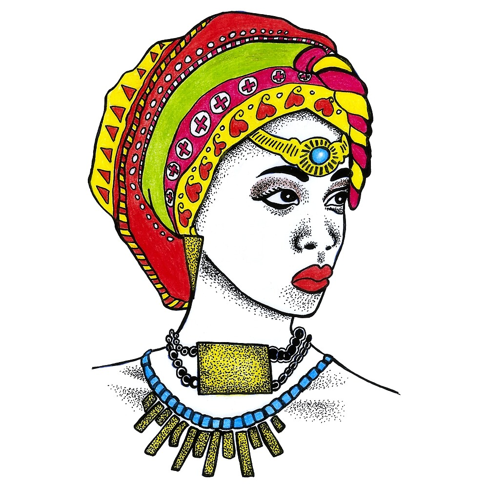 African Woman African Art African Fashion African American Afro American by HighArtDesigns