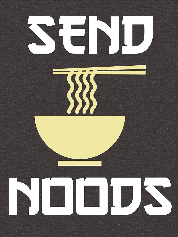Send Noods Ramen Noodles T-Shirt by vibewithme