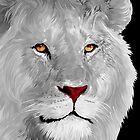 White albino lion by ADZKIYYA DESIGN