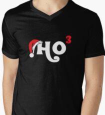 Ho Ho Ho Cubed T-Shirt | Funny Christmas Math Geek Tee Men's V-Neck T-Shirt