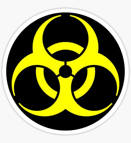 Biohazard Yellow on Black Sticker