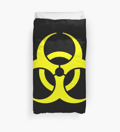 Biohazard Yellow on Black Duvet Cover