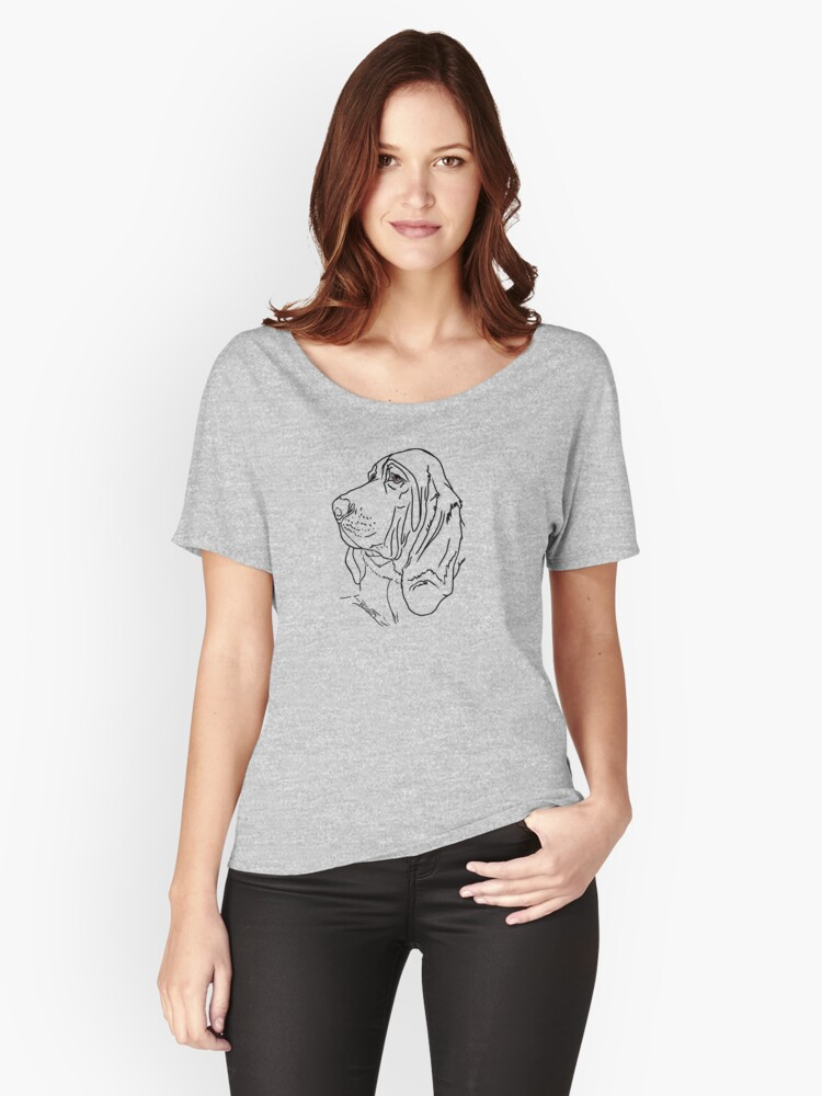 Bloodhound Love Women's Relaxed Fit T-Shirt Front