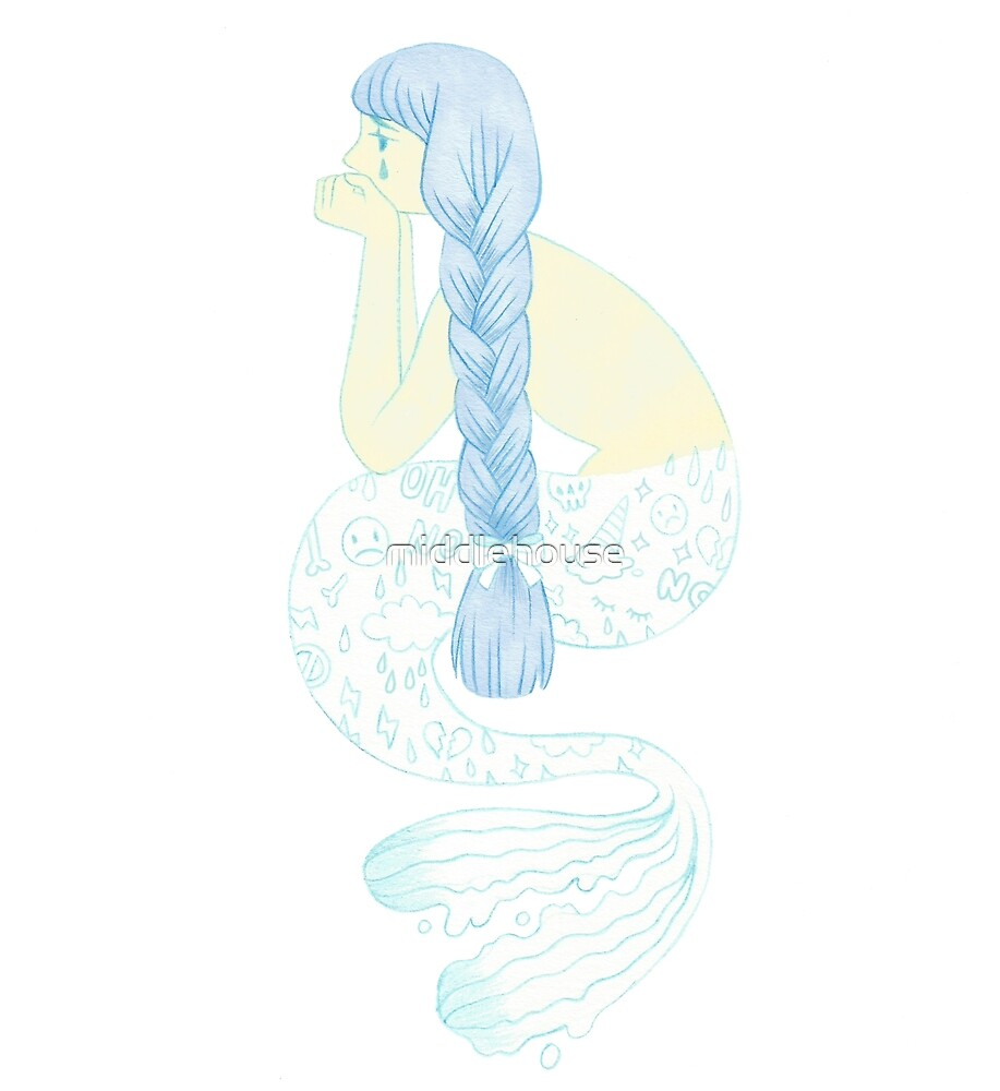 Worried mermaid by middlehouse