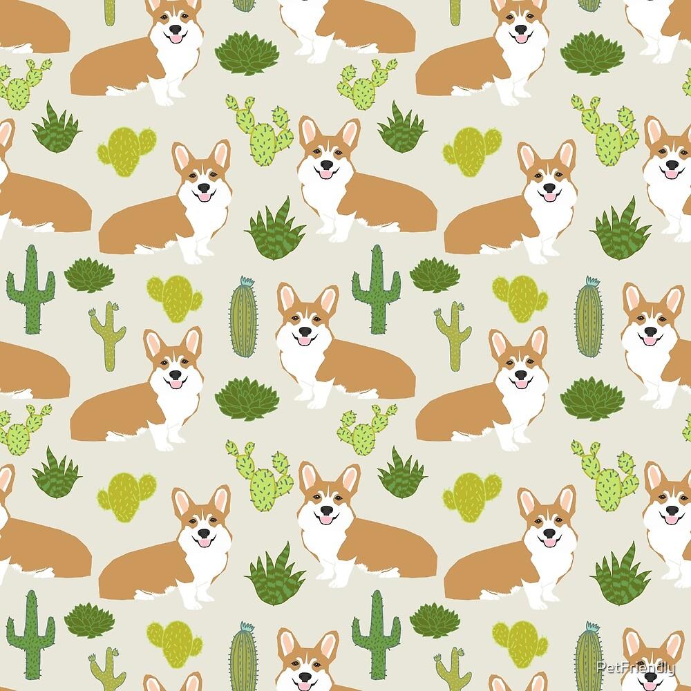 Corgi cactus desert southwest welsh corgis summer vacation dog gifts by PetFriendly