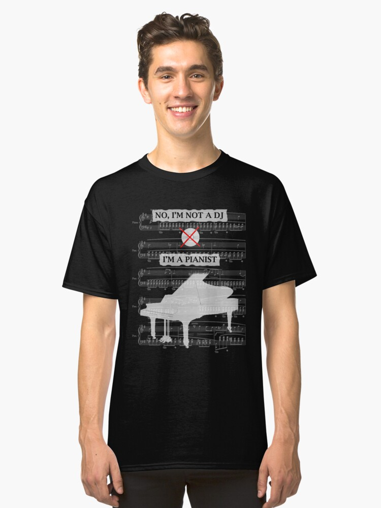 For Pianist Classic T-Shirt Front