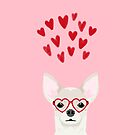 Chihuahua head dog gifts valentines day love hearts chihuahuas chiwawa by PetFriendly