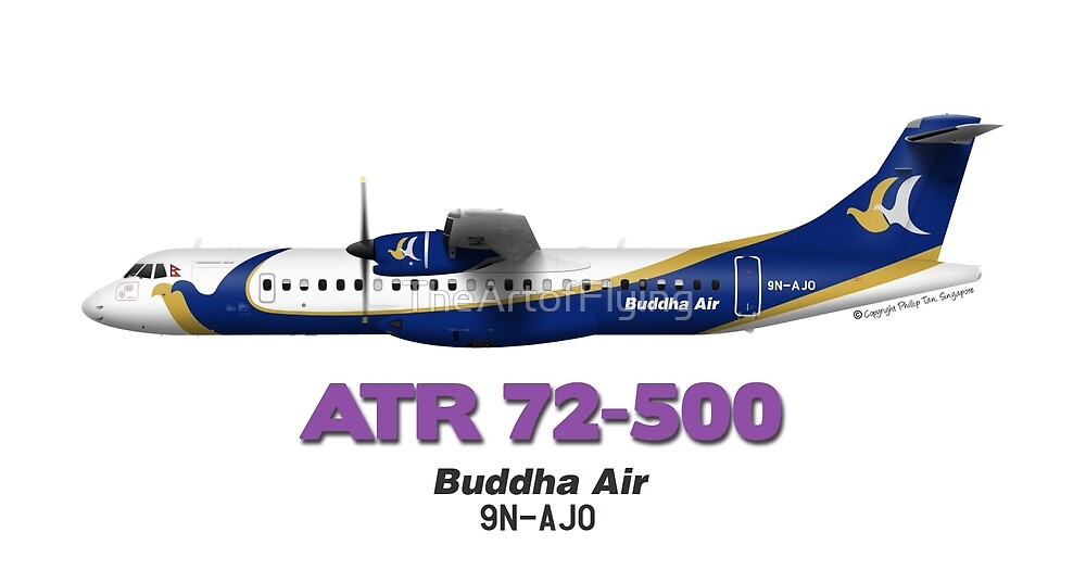 ATR 72-500 - Buddha Air by TheArtofFlying