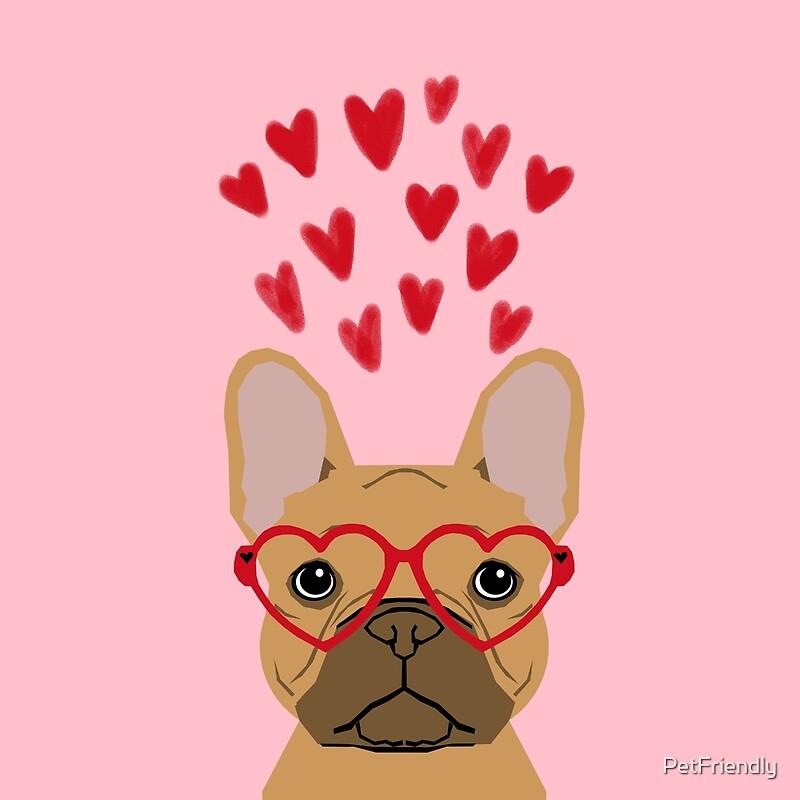 Quot French Bulldog Head Valentines Day Love Hearts Dog Breed