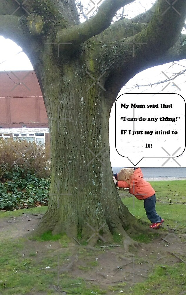 """(PLNB) Bargee Boy(s)  """"Boy trying to push over a tree"""" by KABFA"""