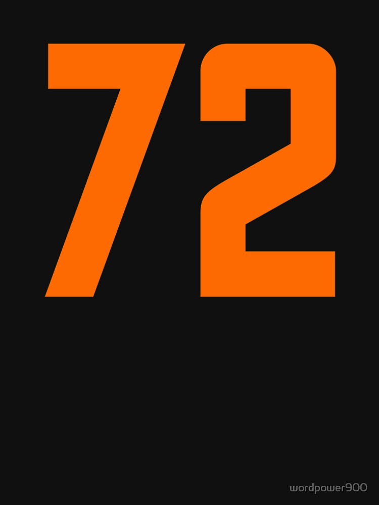 Orange Number 72 by wordpower900