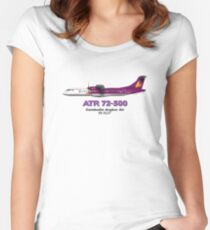 ATR 72-500 - Cambodia Angkor Air Women's Fitted Scoop T-Shirt