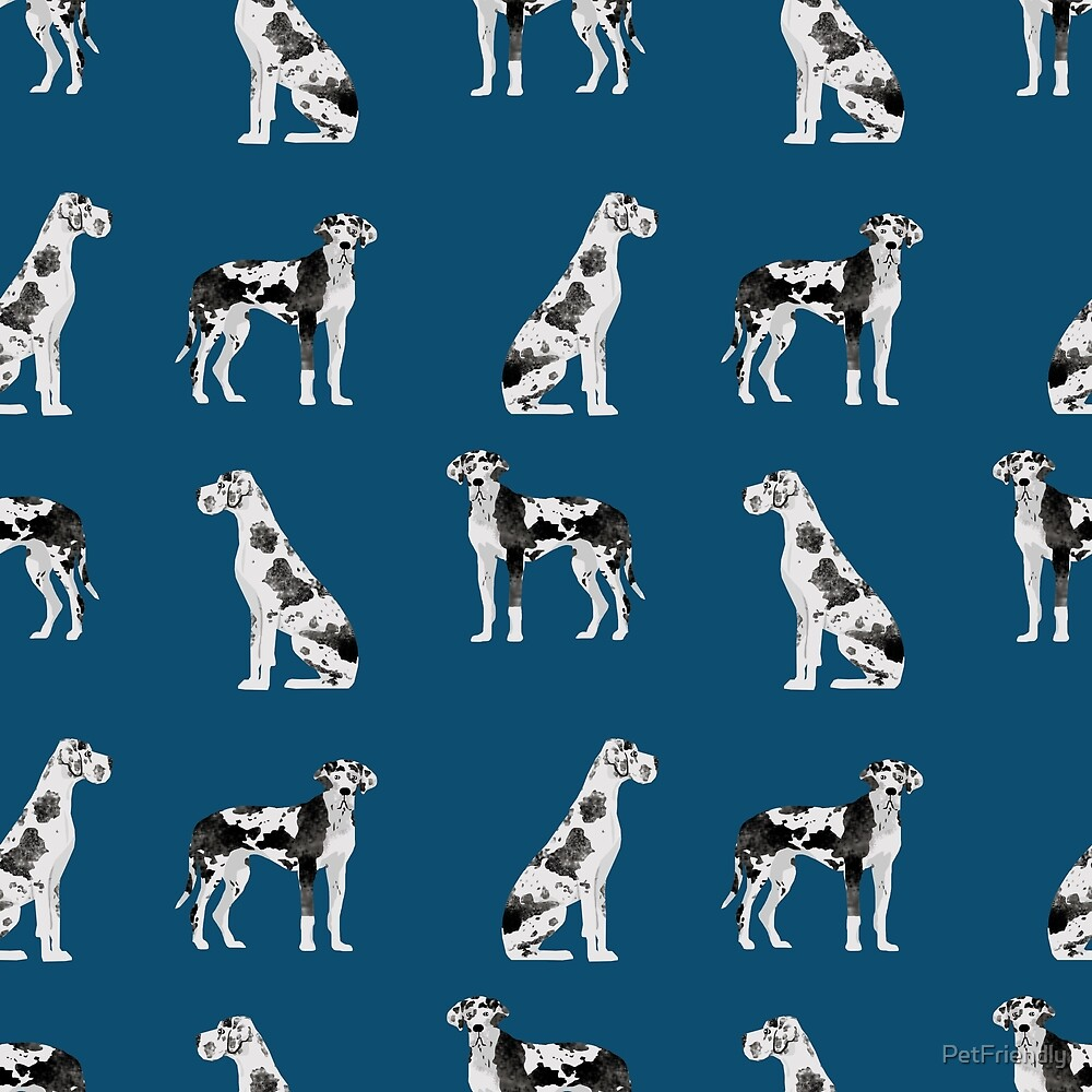 Great Dane harlequin coat dog breed gifts pet patterns for pure breed lovers by PetFriendly