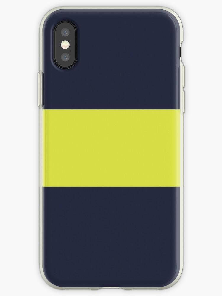Navy Blue/Yellow Colorblock Stripe by sidebar