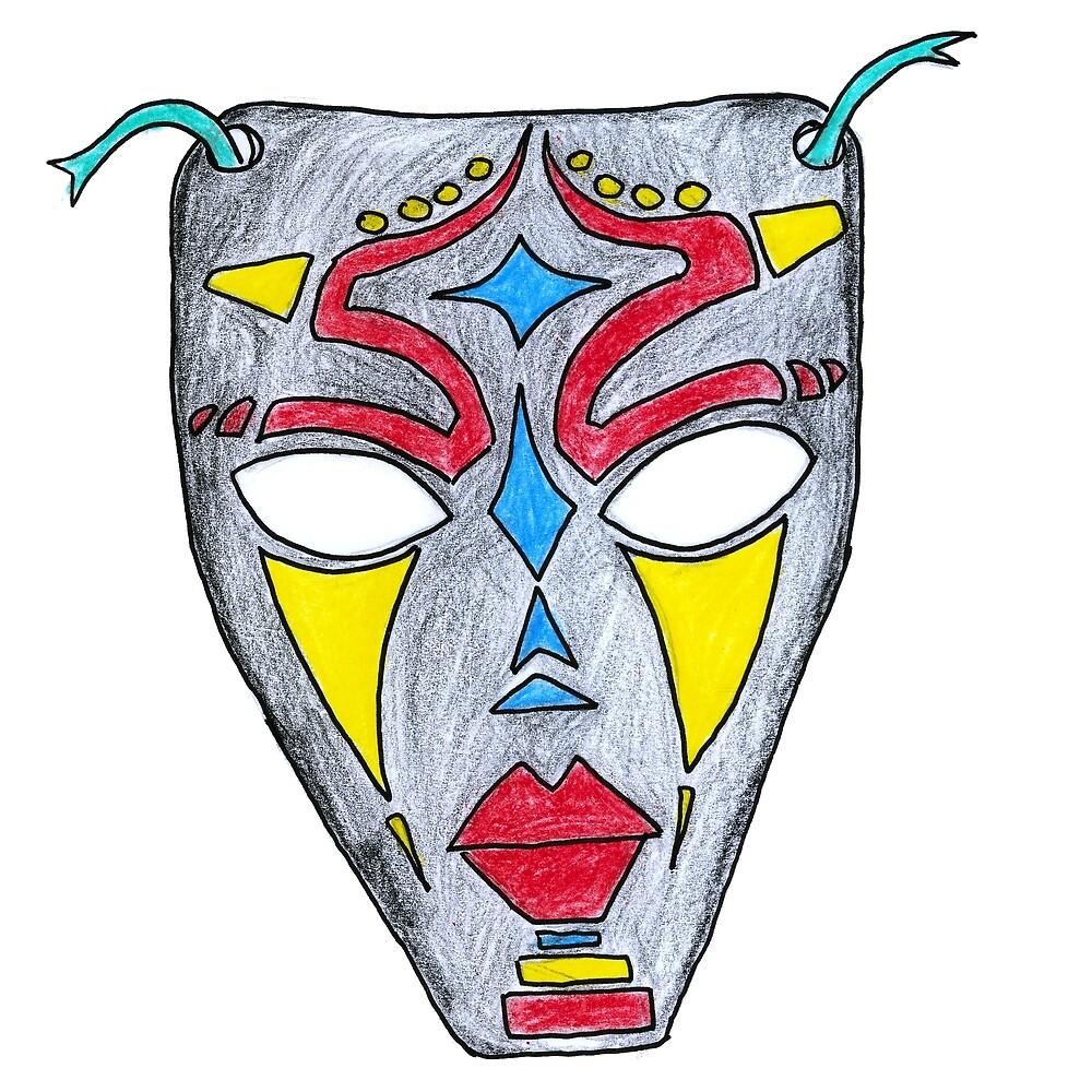 African Mask Balumba Mask African Design Art Gift by HighArtDesigns