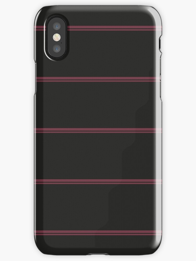 Black/Maroon Double Stripes by sidebar