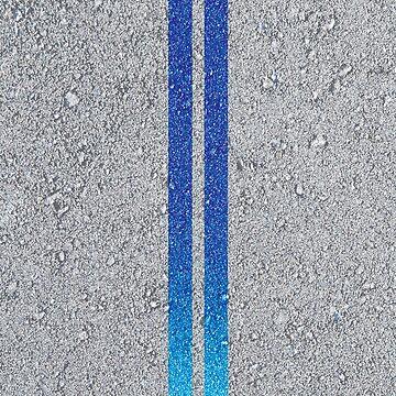 2 Fast 2 Furious Brian Nissan Skyline GT-R R34 Asphalt Stripes by Haxyl