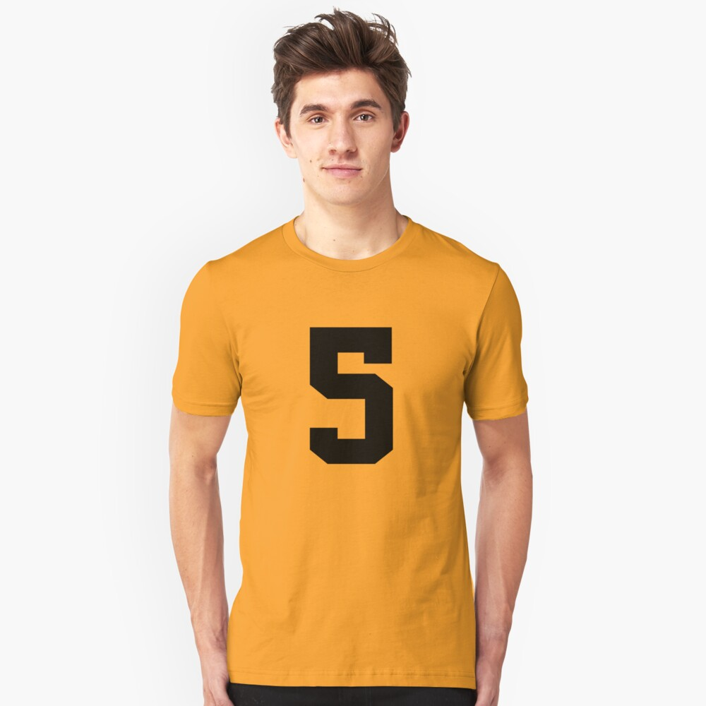 5. The number five on shirts and stuff. Unisex T-Shirt Front