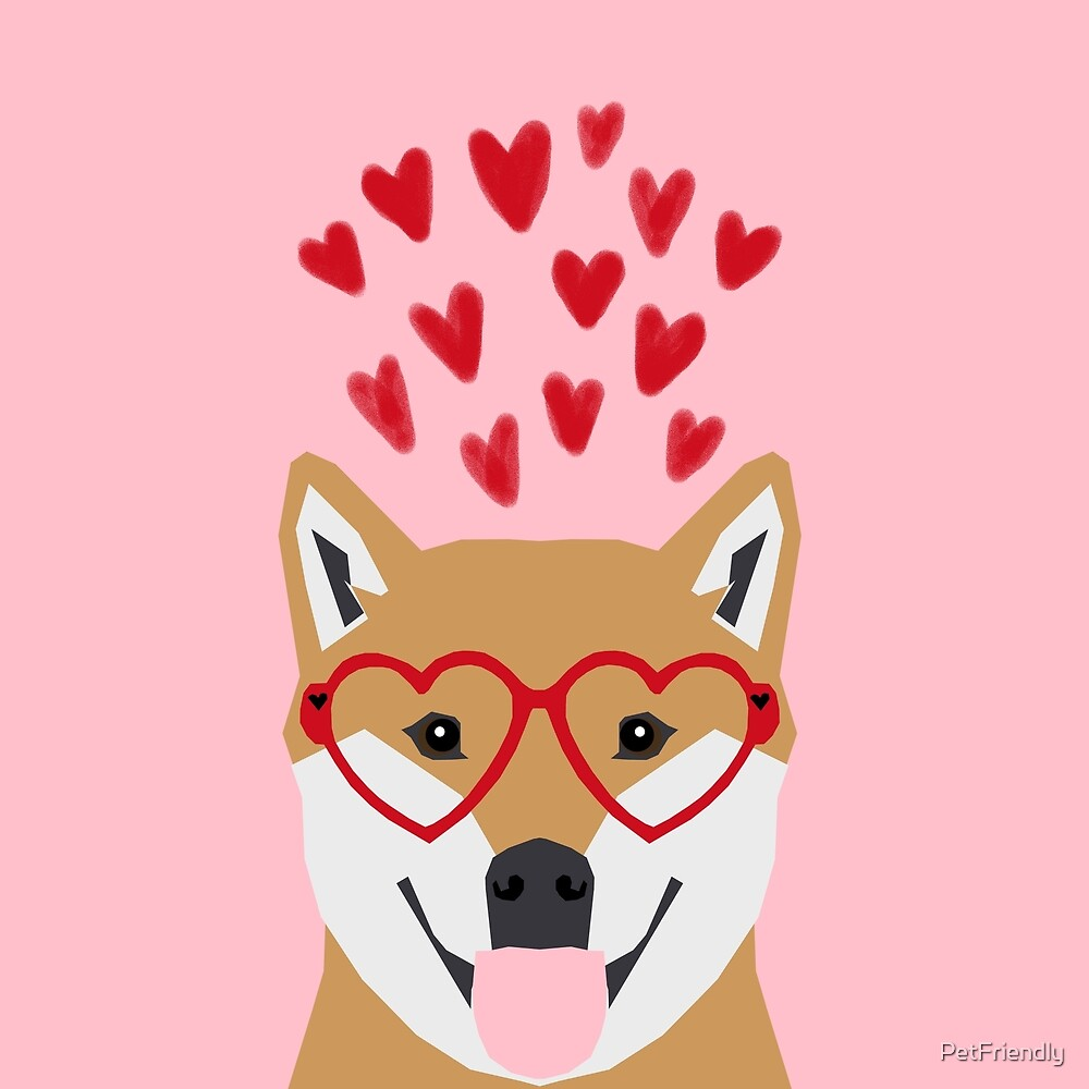 Shiba Inu love hearts dog breed pet gift pure breed shibas must have valentines day  by PetFriendly