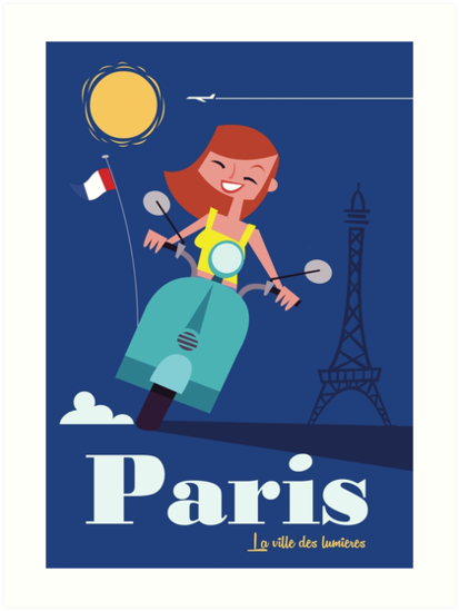 Paris travel poster by Gary Godel