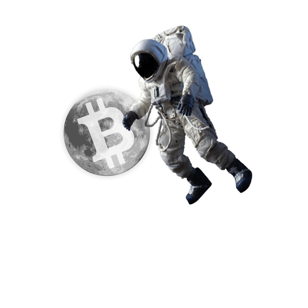 Bitcoin Astronaut  by Bitninjasupply