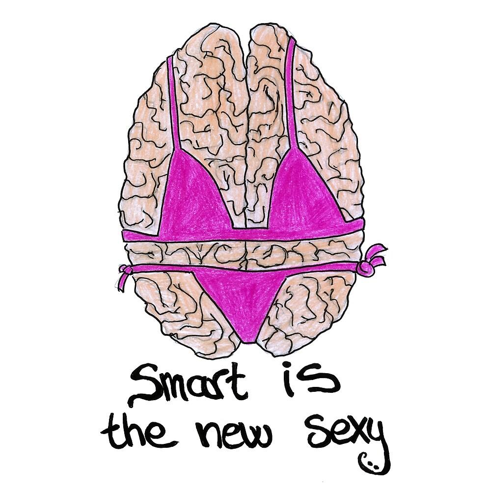 Smart Is The New Sexy Brain Nerd Design Gift by HighArtDesigns