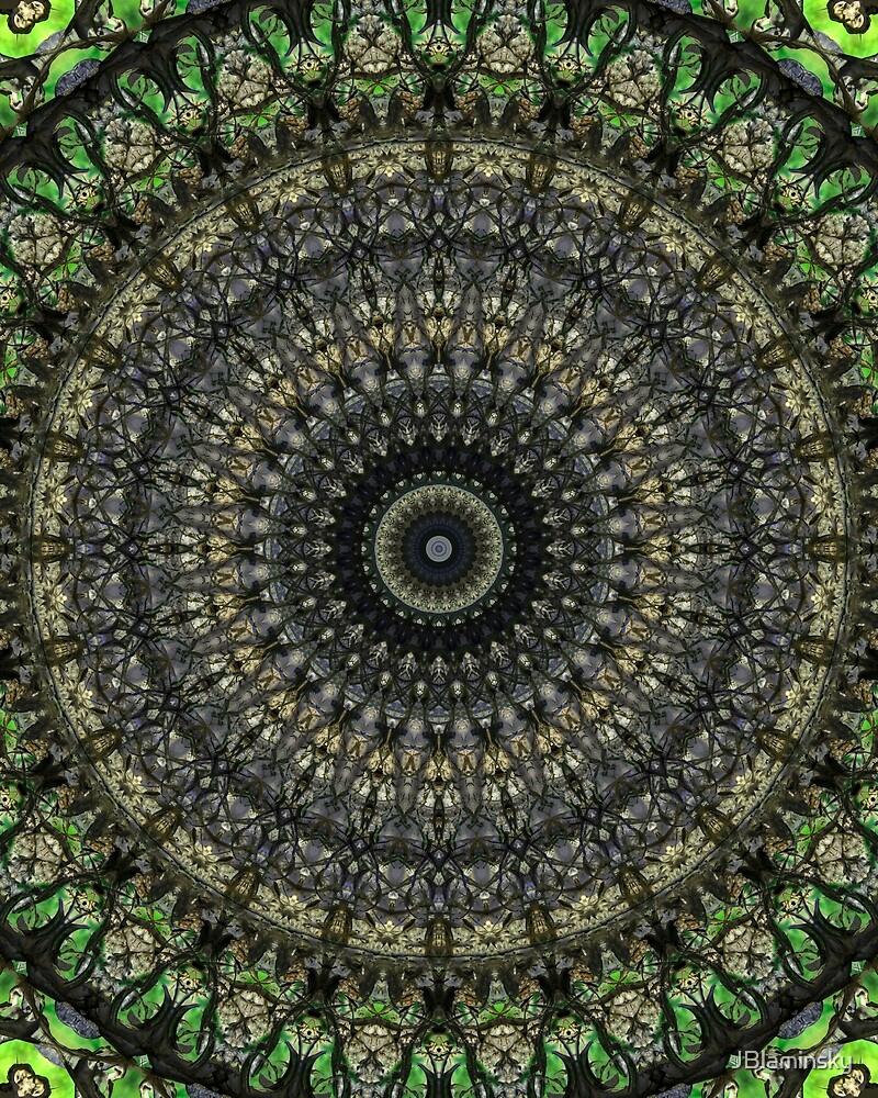 Mandala in green and gray tones by JBlaminsky