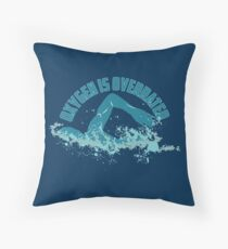 Oxygen Is Overrated - Funny Swimming Pun Gift Floor Pillow