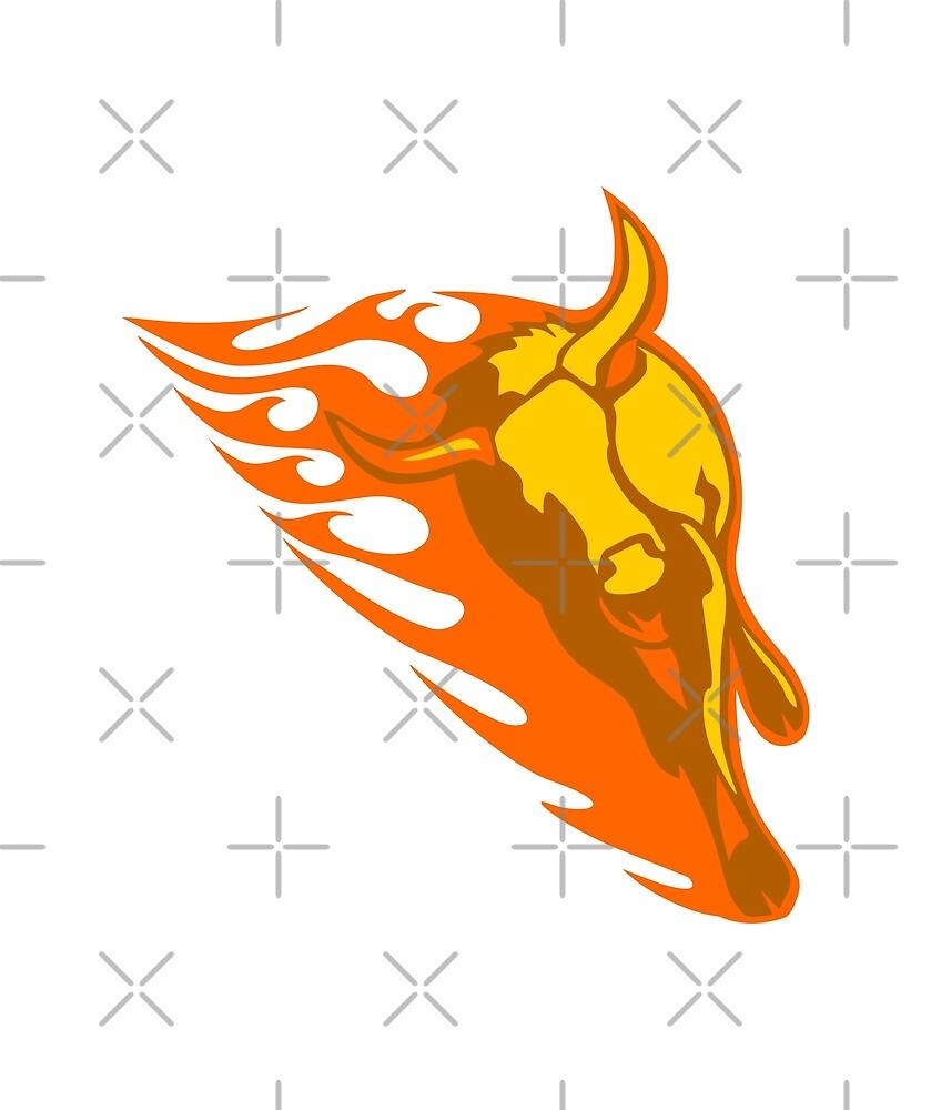 Bull in Flames by bradyarnold