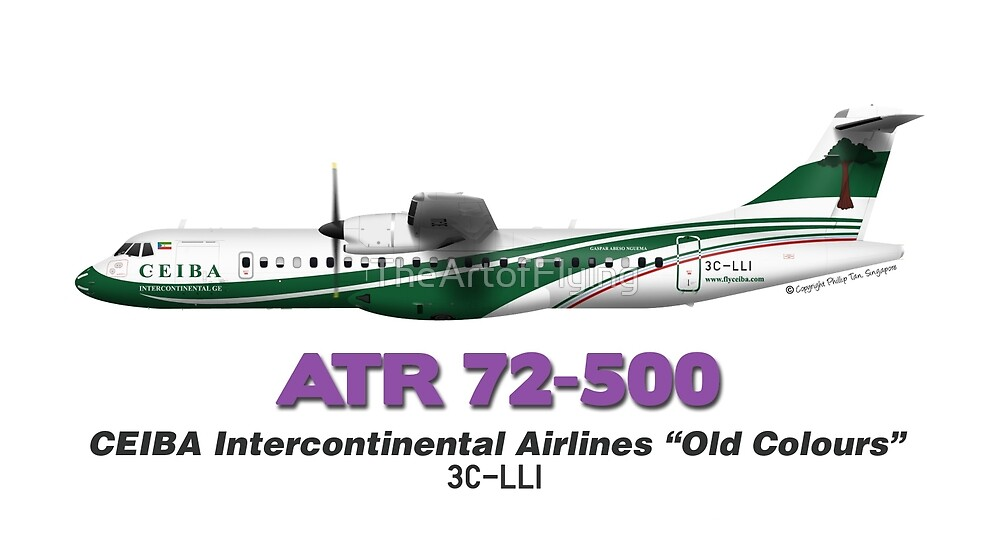 """ATR 72-500 - CEIBA Intercontinental Airlines """"Old Colours"""" by TheArtofFlying"""