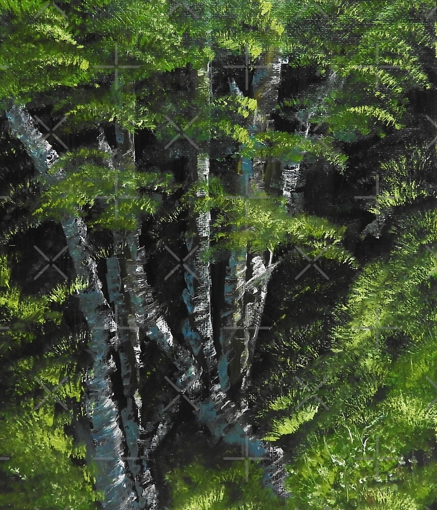 .:Birch:. Oil Painting  by Bettypico