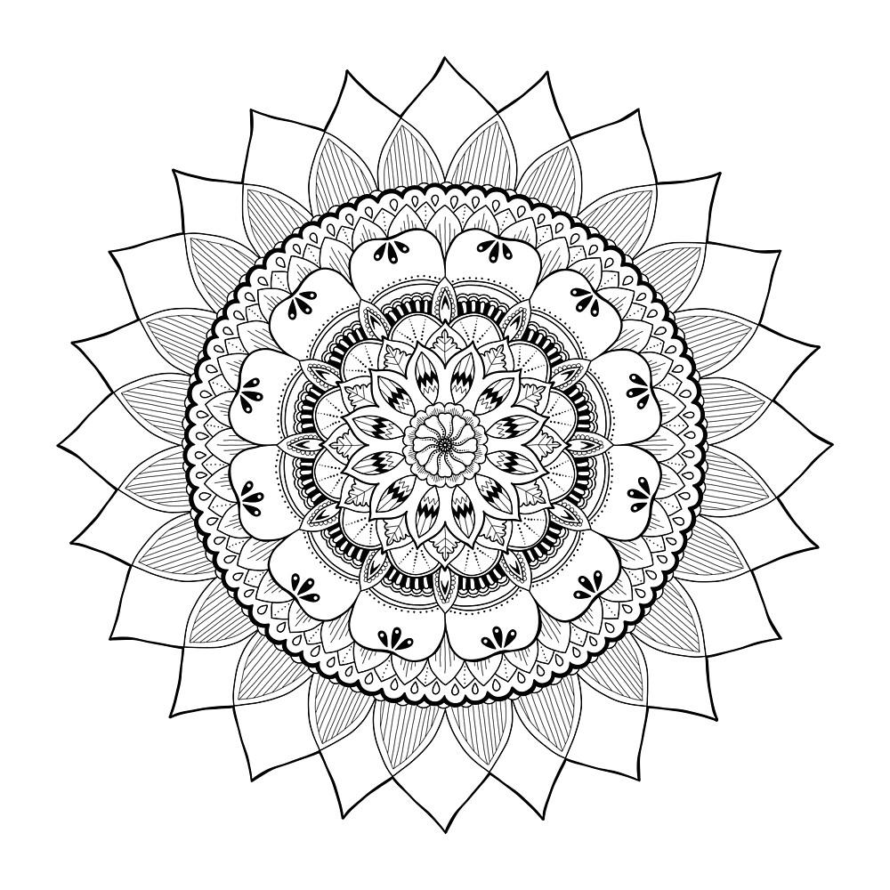 Aztec Mandala by artysarahjoy