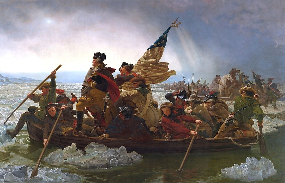 General, George, Washington, Crossing the Delaware, by the German American artist Emanuel Gottlieb Leutze.  by TOM HILL - Designer