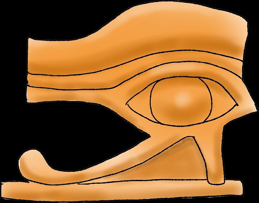 Eye of Horus Amulet by Leenasart