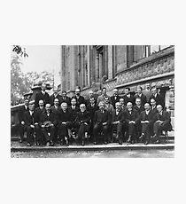 Lámina fotográfica 1927 Conferencia Solvay sobre Mecánica Cuántica.