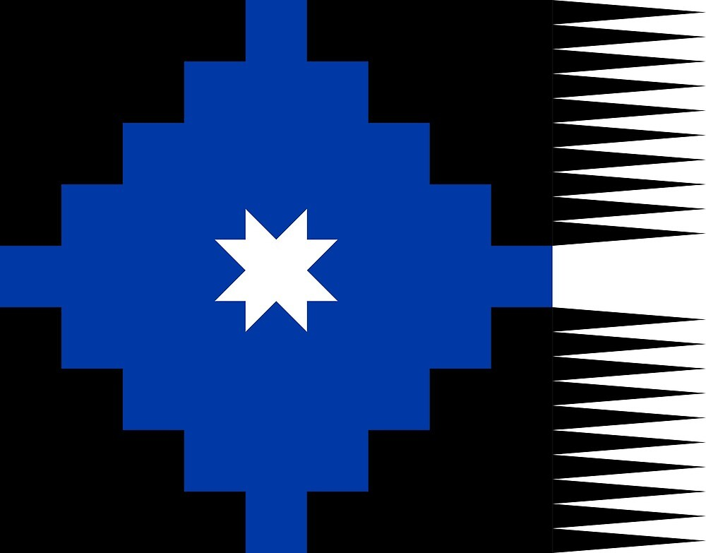Ancient flag of the Mapuche by ofmany