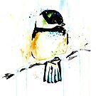 Chickadee - Winter friend by Lisa Whitehouse