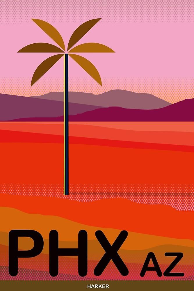 Phoenix Arizona Travel Poster by Charles Harker