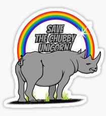 Save the chubby unicorn! VRS2 Sticker