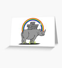 Save the chubby unicorn! VRS2 Greeting Card