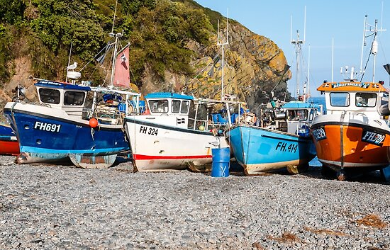 Cadgwith Cove on the Lizard peninsula in Cornwall, UK by Chris Warham