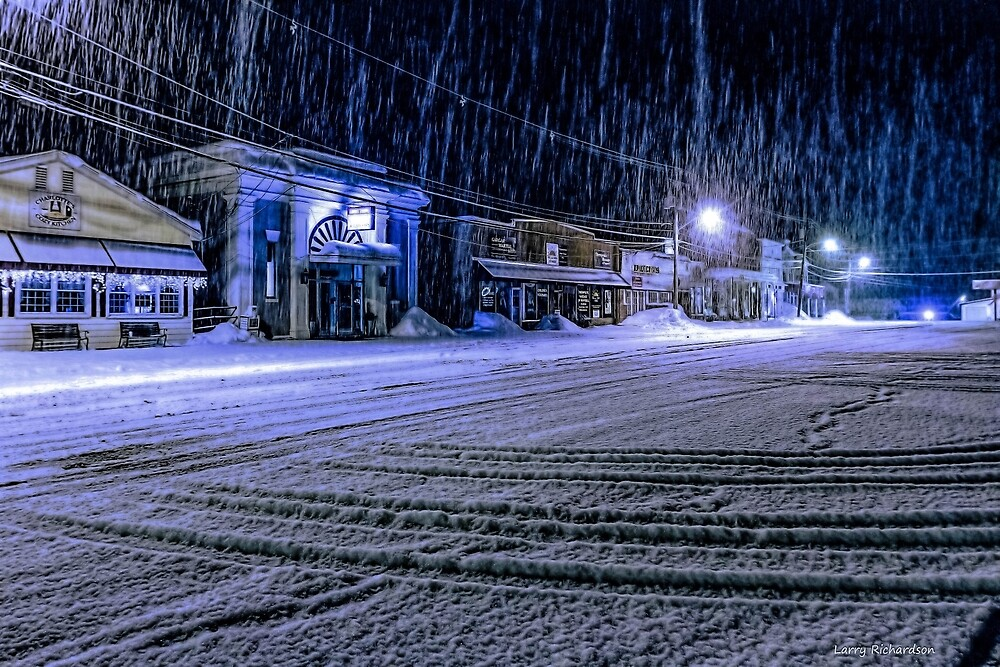 Pepperell MA, Snow storm by Larry Richardson