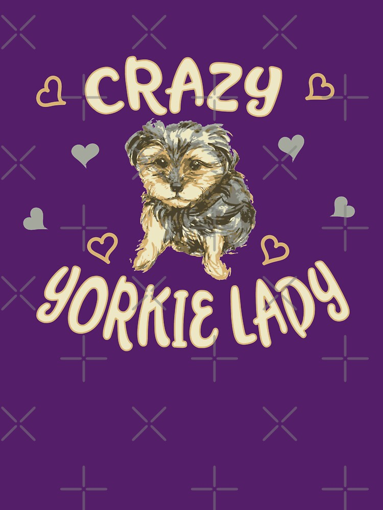 Crazy Yorkie Lady Gifts for Woman Who Love Pets Yorkies by VintageInspired