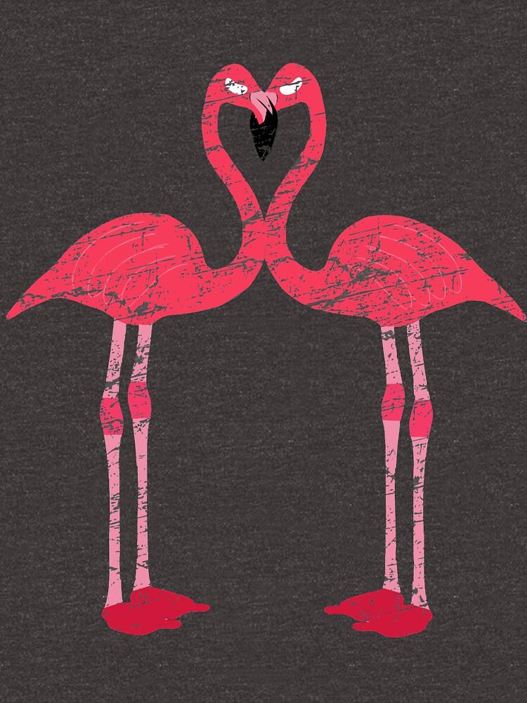 Kissing Flamingos by ESSTEE