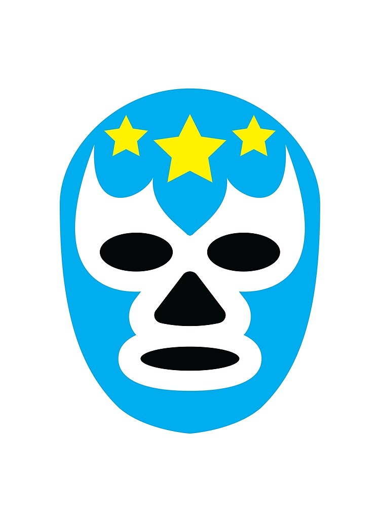 La Lucha Never Stops - Luchador Mask Graphic T-Shirt by Multi-threads