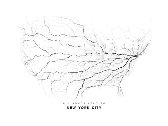All Roads Lead to New York City (North America edition) by LaarcoStudio