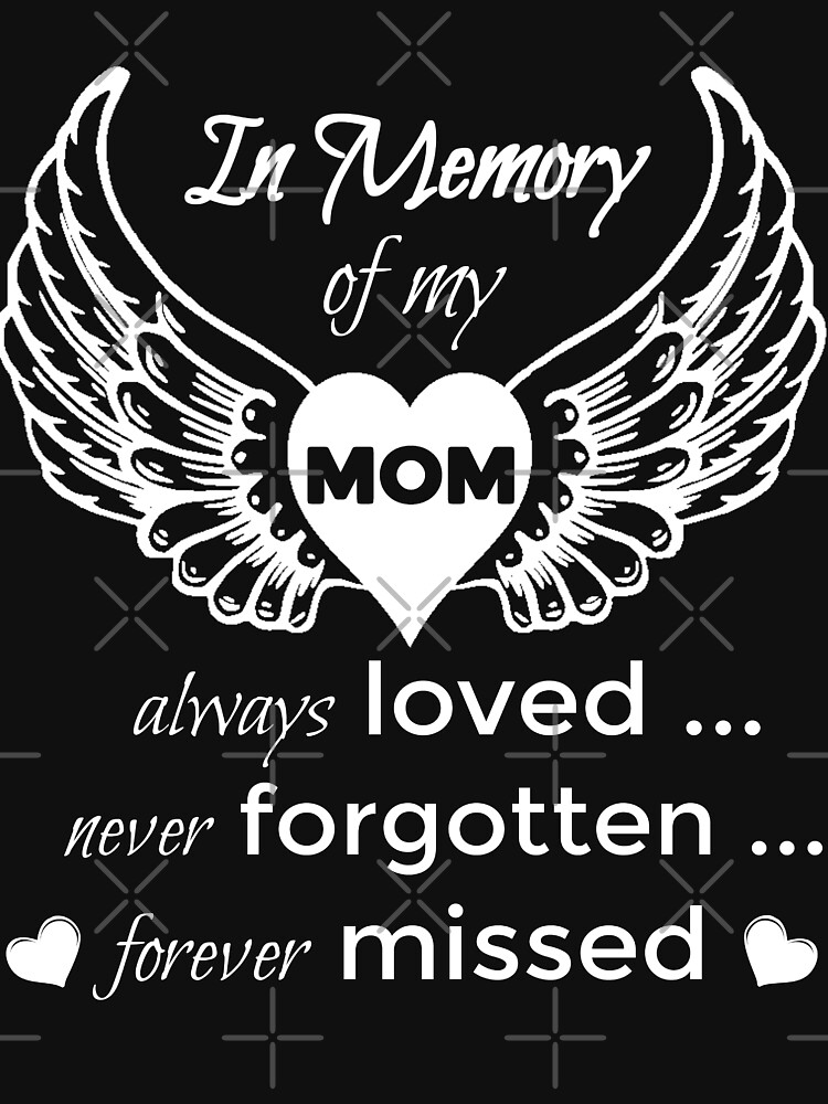 In Memory of My Mom Angel Wings Shirts & Gifts by VintageInspired