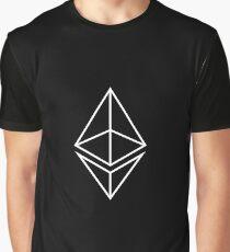 Ethereum logo white / black Graphic T-Shirt