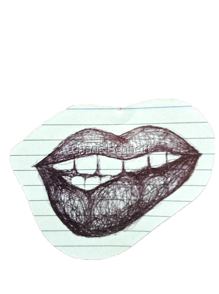 Lips Drawing  by charisb123