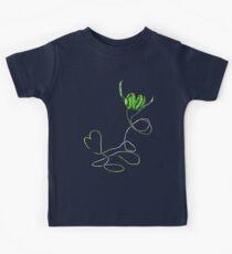 I Love Music in Green T-shirt Kids Tee